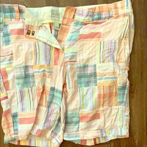 Jcrew Bermuda madras shorts